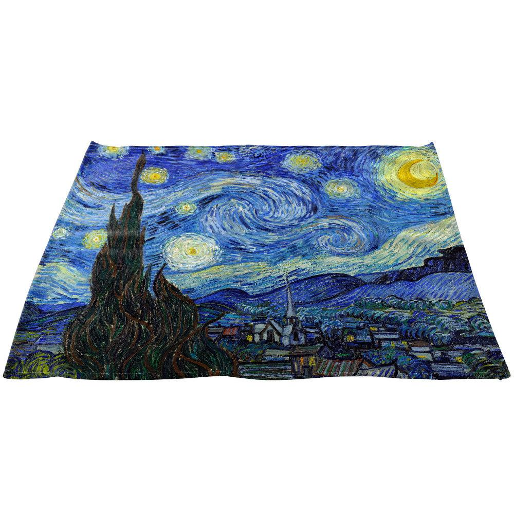 Vincent Van Gogh's Starry Night Linen Napkins 20″ x 20″, Set