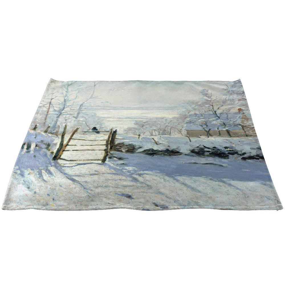 "Claude Monet's ""The Magpie"" Linen Napkins 20"" x 20"", Set"