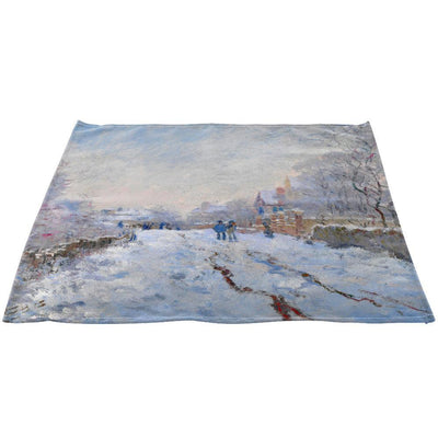 "Claude Monet's ""Snow at Argenteuil, 1875"" Linen Napkins 20"" x 20"", Set"