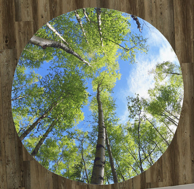 "Tree Canopy 60"" Round Microfiber Beach Towel"