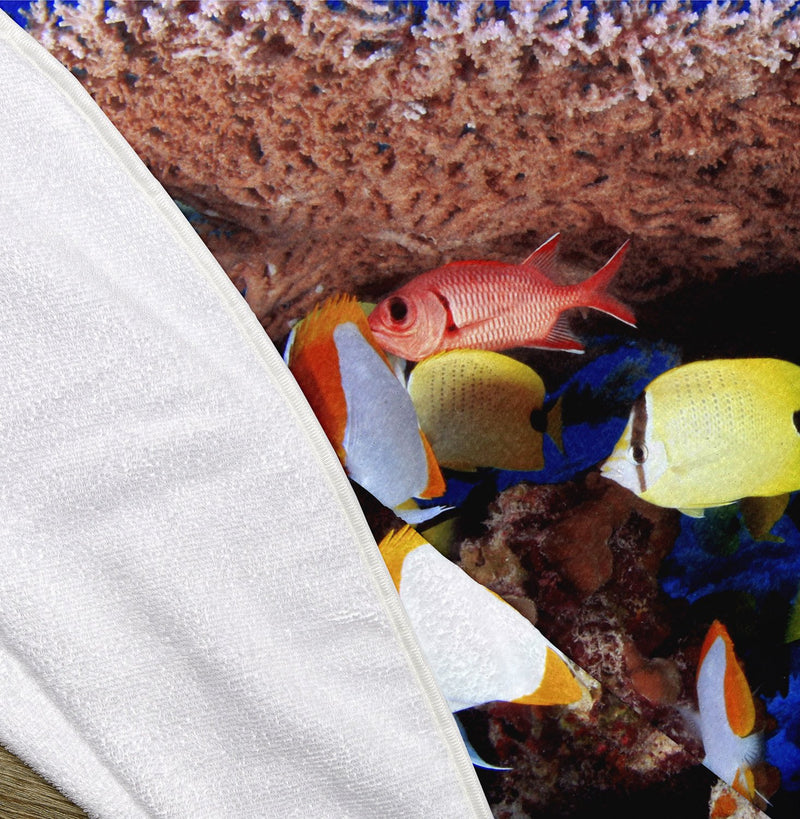 "Colorful Fish 60"" Round Microfiber Beach Towel"