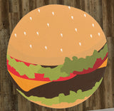 "Illustrated Deluxe Cheese Burger 60"" Round Microfiber Beach Towel"