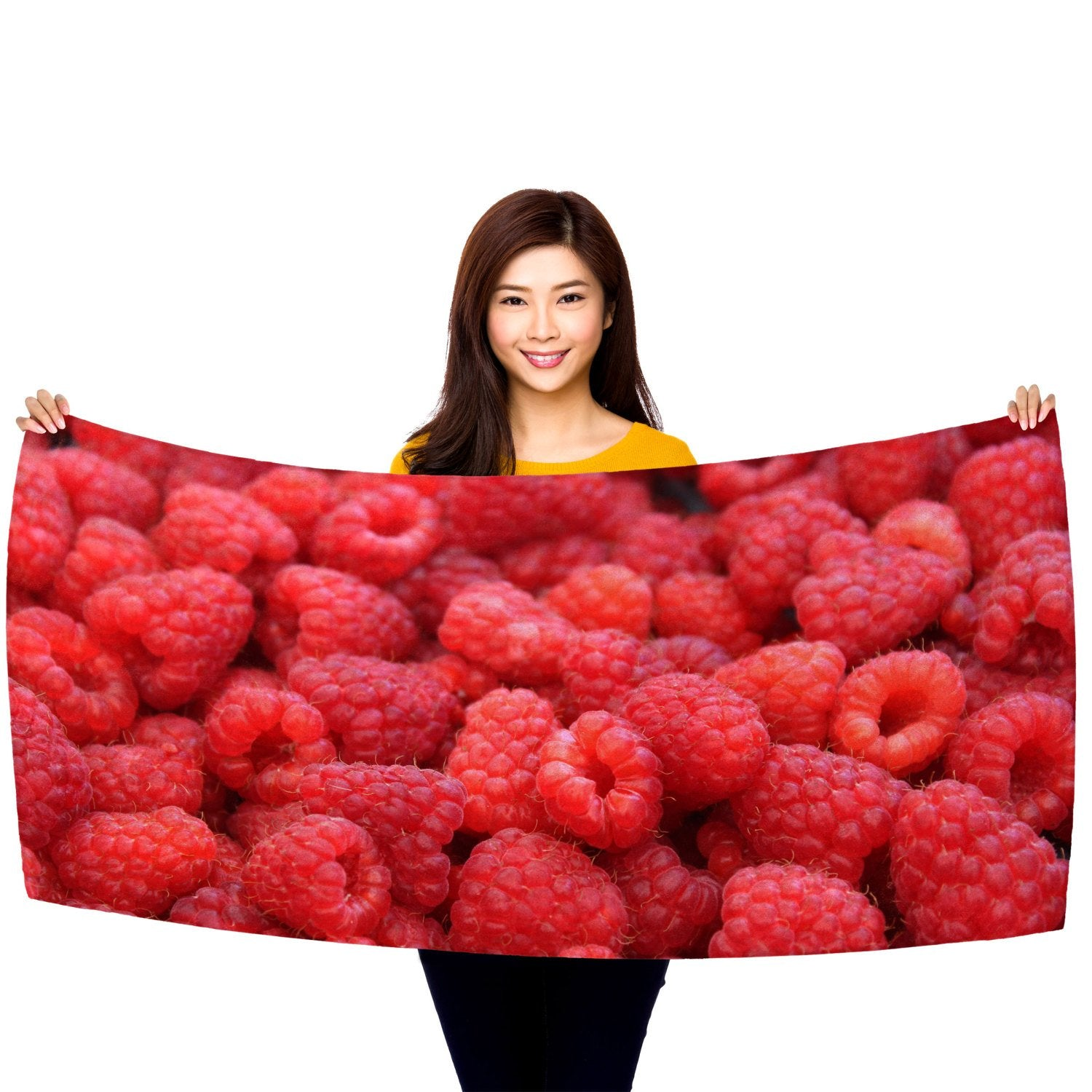"Raspberries - 30"" x 60"" Microfiber Beach Towel"