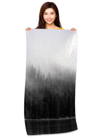 Misty Forest - Microfiber Beach Towel
