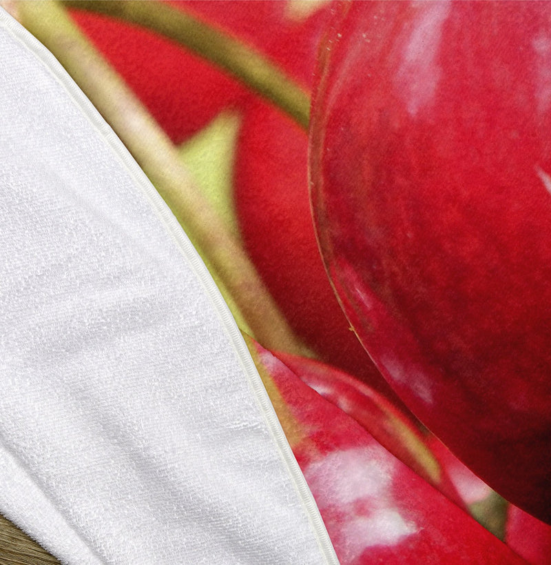 "Cherries 60"" Round Microfiber Beach Towel"