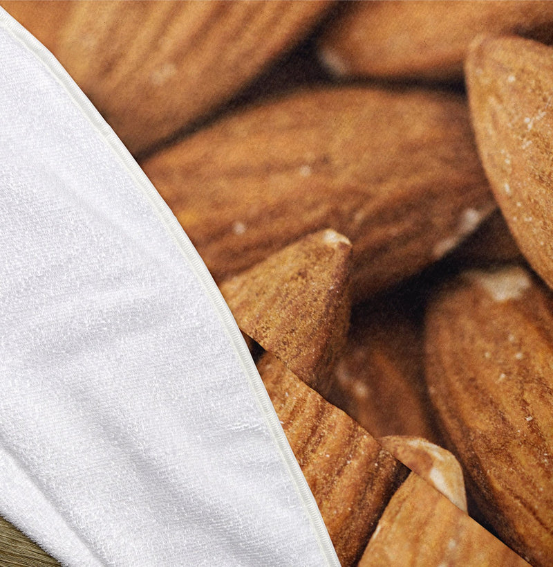 "Almonds 60"" Round Microfiber Beach Towel"