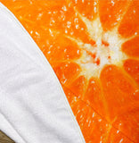 "Orange Slice 60"" Round Microfiber Beach Towel"