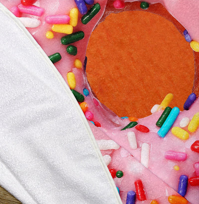 "Donut with Sprinkles 60"" Round Microfiber Beach Towel"