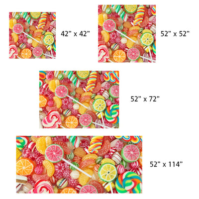 Colorful Candy, Linen Table Cloth