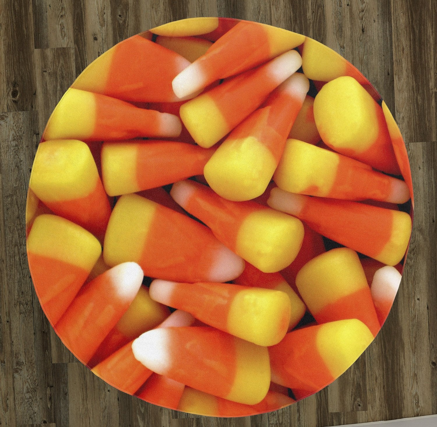 "Candy Corn 60"" Round Microfiber Beach Towel"