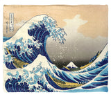 "Hokusai, The Great Wave Off Kanagawa - 50"" x 60"" Plush Fleece Throw Blanket / Tapestry Wall Hanging"