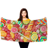 "Candy Candy Everywhere - 30"" x 60"" Microfiber Beach Towel"