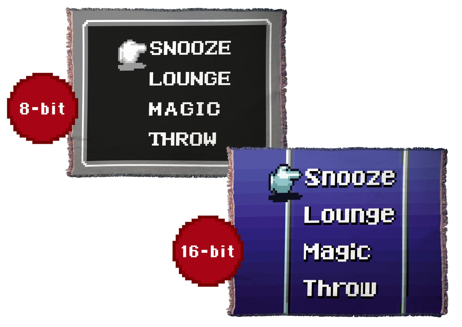 Retro RPG Menu HD Woven Throw Blanket / Tapestry Wall Hanging