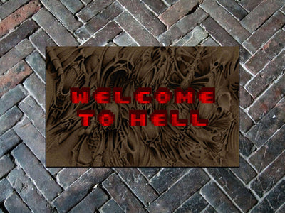 "DOOM ""Welcome to Hell"" 24"" x 36"" Doormat Floormat"