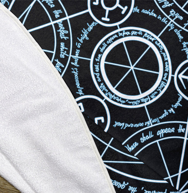 "FMA Transmutation Circle 60"" Round Microfiber Beach Towel"