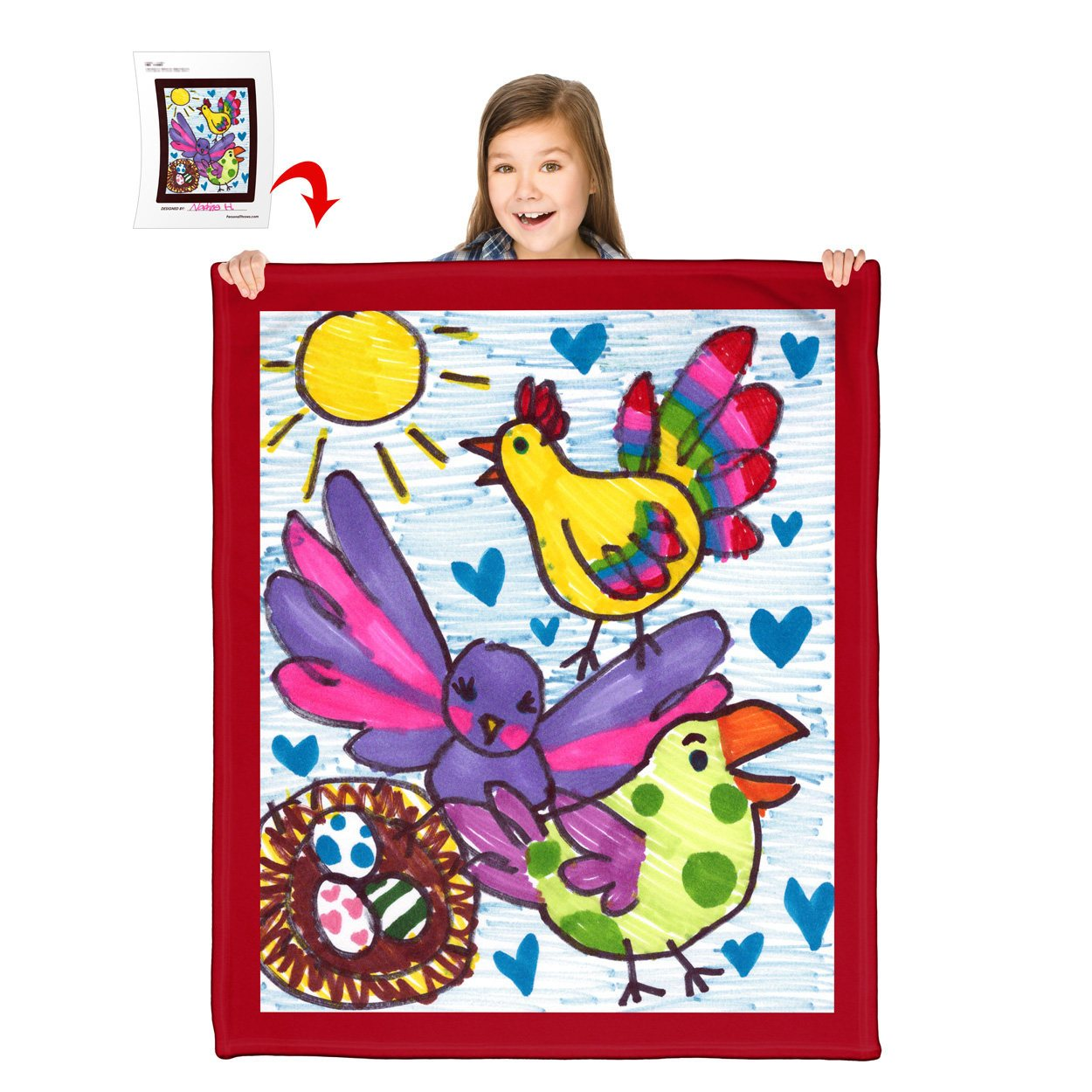 Turn Your Child's Drawing into a 50″ x 60″ Polar Fleece Blanket