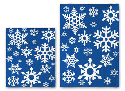 Holiday Christmas Snowflake Plush Throw Blanket