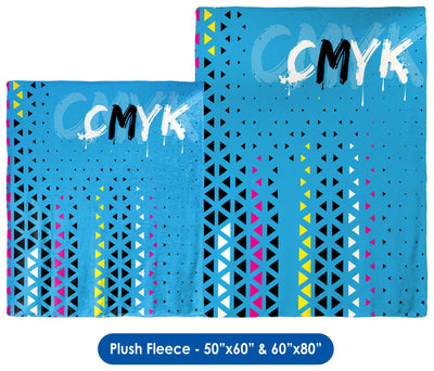 CMYK - Throw Blanket / Tapestry Wall Hanging