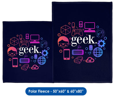 Geek - Throw Blanket / Tapestry Wall Hanging