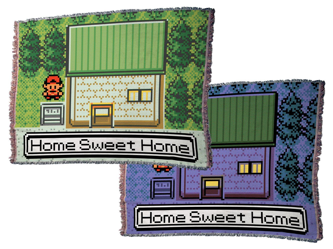 "Pokemon (Gen II), ""Home Sweet Home"" - 70"" x 54"" Jacquard Loom Woven Throw Blanket"