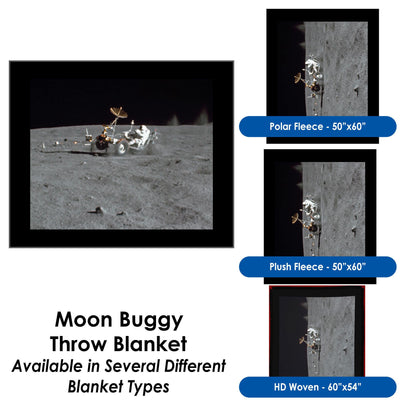Moon Buggy Throw Blanket / Tapestry Wall Hanging - Standard Multi-color
