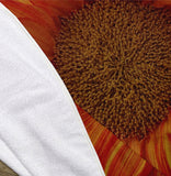 "Orange Sunflower 60"" Round Microfiber Beach Towel"