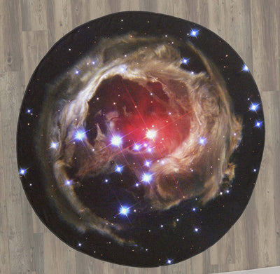 "Supergiant Star V838 Monocerotis 60"" Round Microfiber Beach Towel"