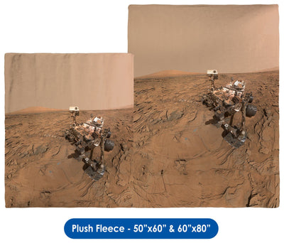 Curiosity Rover Self Portrait - Throw Blanket / Tapestry Wall Hanging