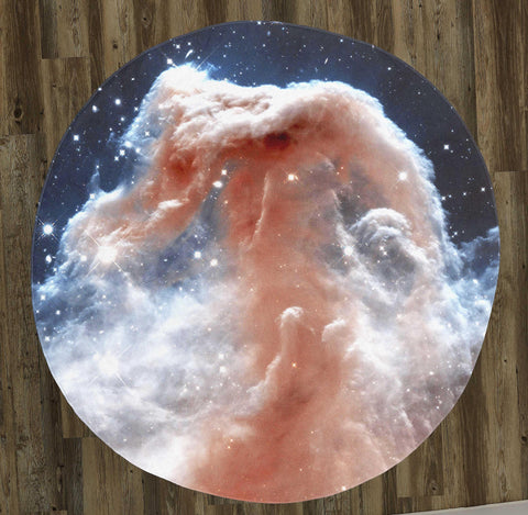 "The Horsehead Nebula 60"" Round Microfiber Beach Towel"