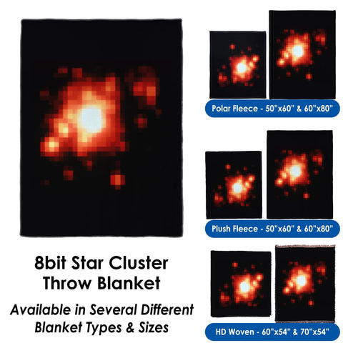 8bit Star Cluster - Throw Blanket