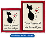 Nine Lives of Love - Throw Blanket
