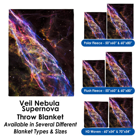 Veil Nebula Supernova - Throw Blanket