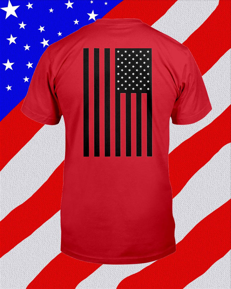 Let Freedom Fly, American Flag Unisex T-Shirt - Any Color Shirt Available