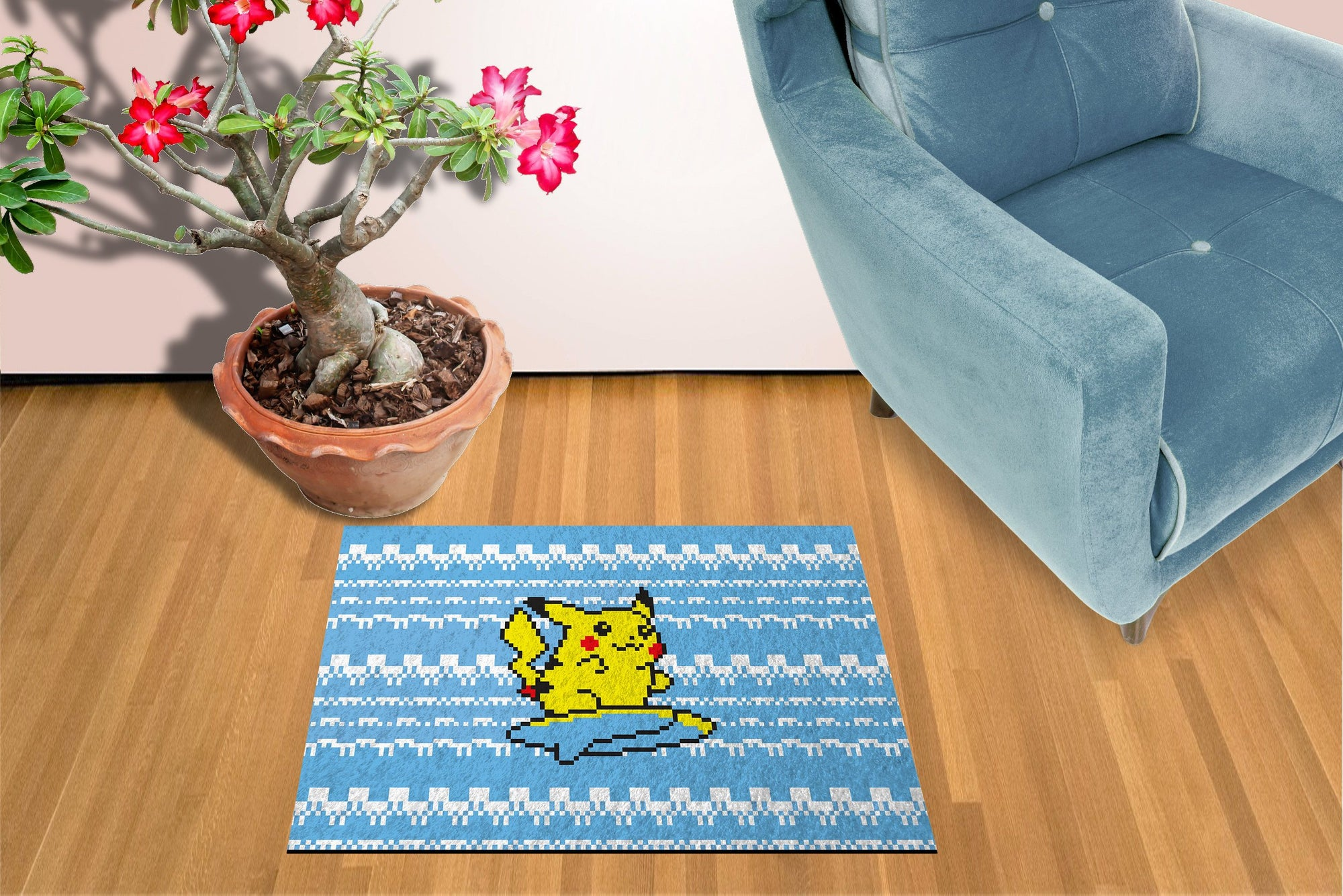 "Pikachu Pokemon - 18"" x 24""; Doormat Welcome Floormat"