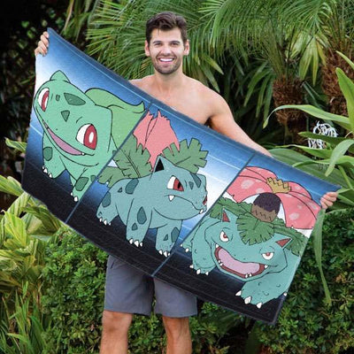 "Pokemon Grass Starter 30"" x 60"" Microfiber Beach Towel"