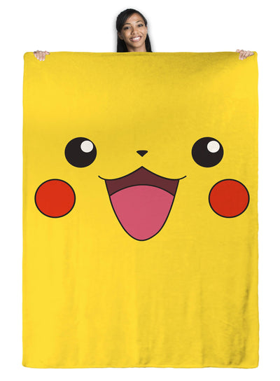 Pikachu Pokemon Throw Blanket