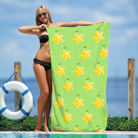 "Paopu Fruit 30"" x 60"" Microfiber Beach Towel"
