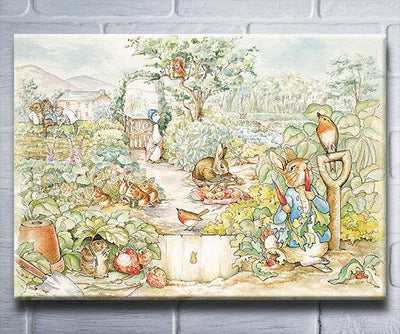 "Beatrix Potter Characters(11"" x 14"") - Canvas Wrap Print"