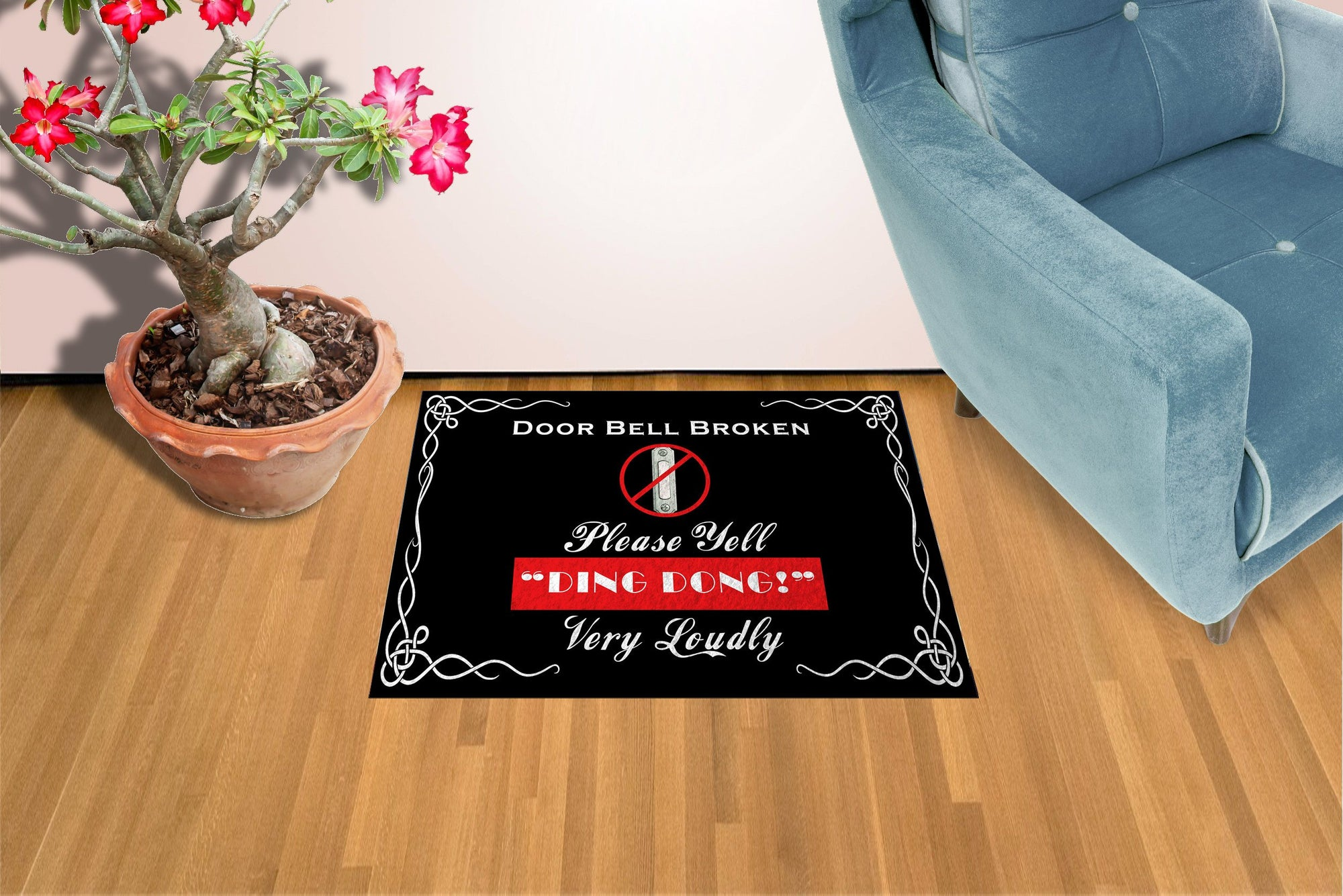 Ding Dong  - Doormat Welcome Floormat