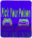 "Pick Your Poison 60"" x 50"" Sherpa Throw Blanket"