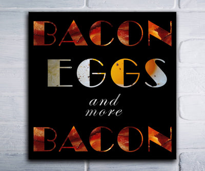 "More Bacon (16"" x 16"") - Canvas Wrap Print"