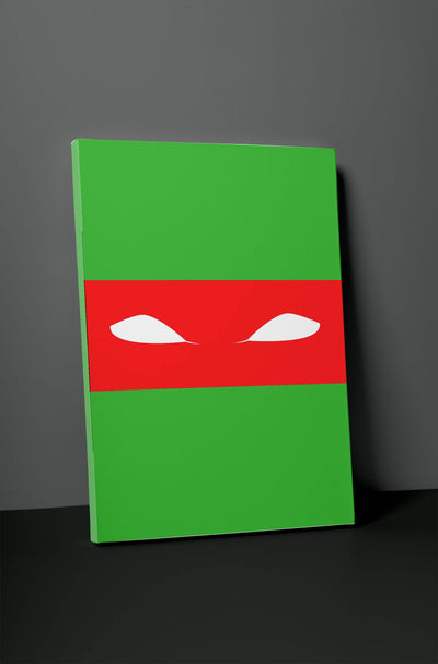 "Ninja Turtle Simplistic Print 24"" x 36"" x 1.5"" Canvas Gallery Wrap Photo Print"