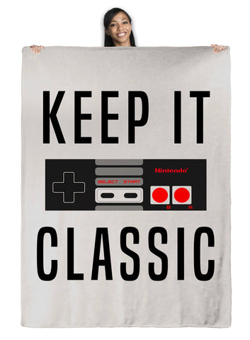 NES Keep It Classic - Throw Blanket