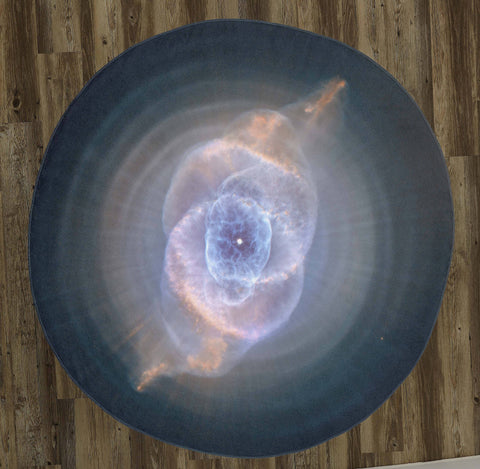 "Cat's Eye Nebula 60"" Round Microfiber Beach Towel"