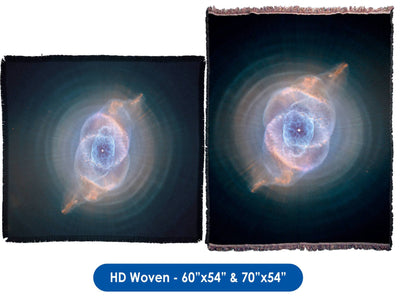 Cats Eye Nebula - Throw Blanket / Tapestry Wall Hanging
