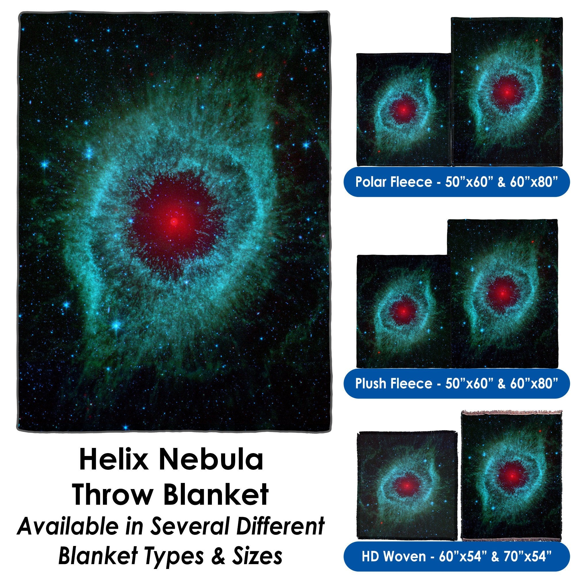 Helix Nebula - Throw Blanket / Tapestry Wall Hanging