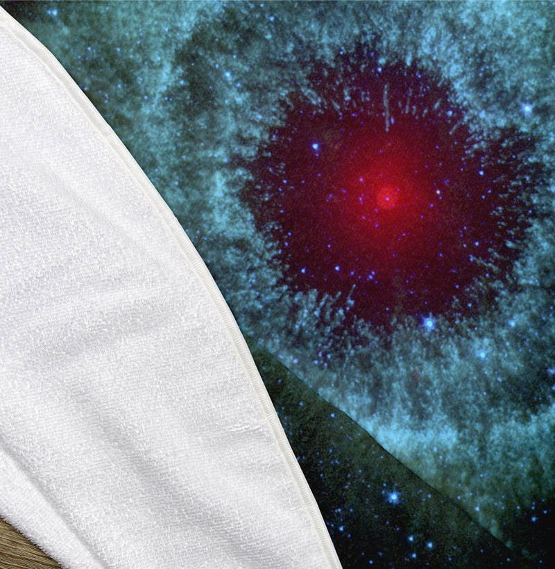 "The Helix Nebula 60"" Round Microfiber Beach Towel"