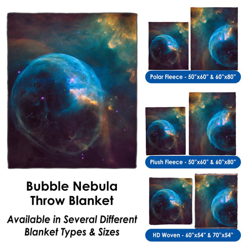 Bubble Nebula - Throw Blanket