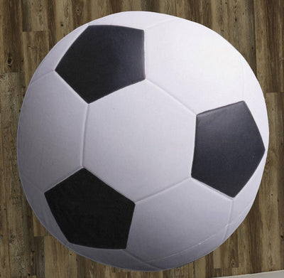 "Soccer ball 60"" Round Microfiber Beach Towel"