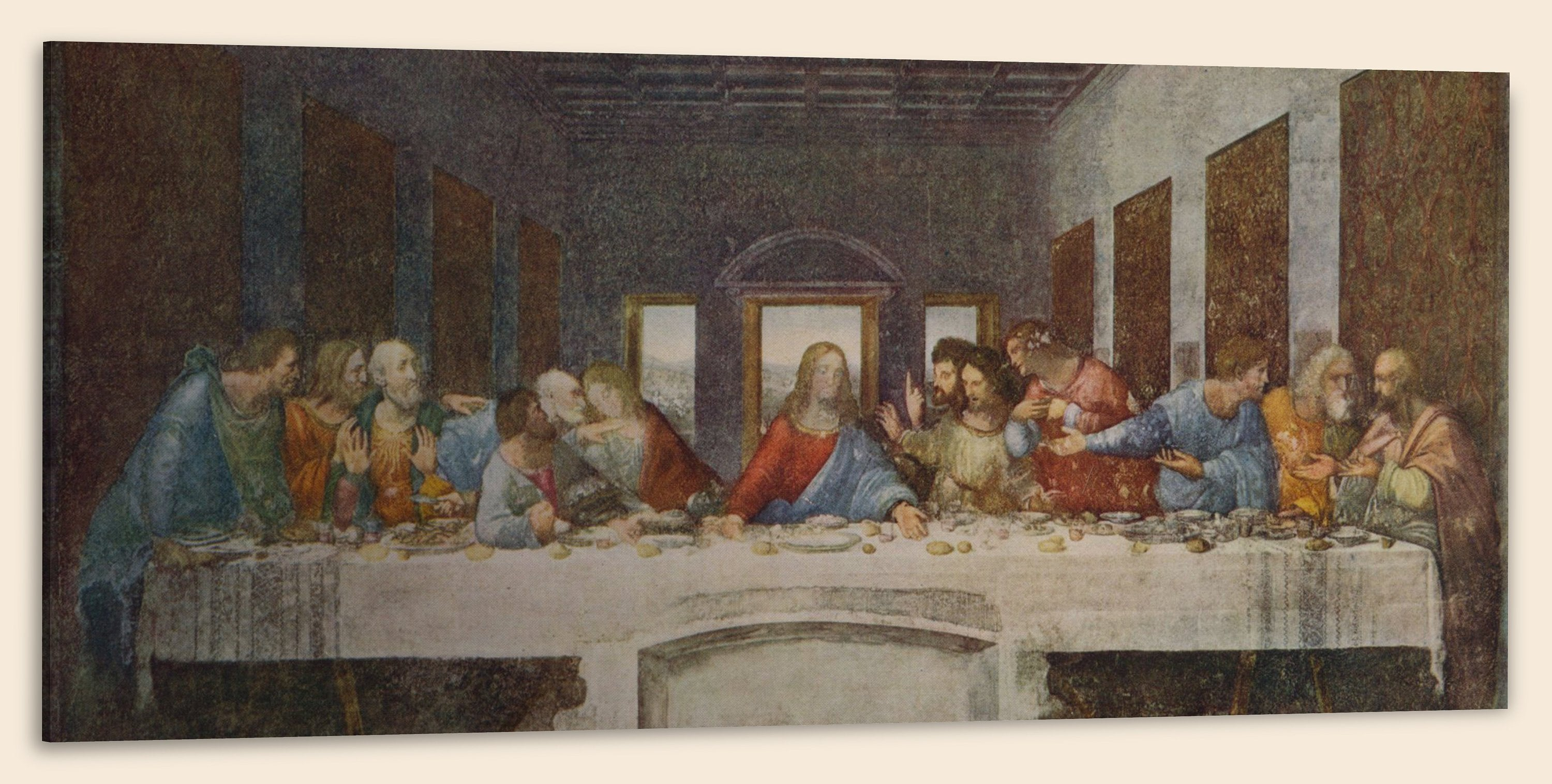 The Last Supper (24″ x 48″) – Canvas Wrap Print
